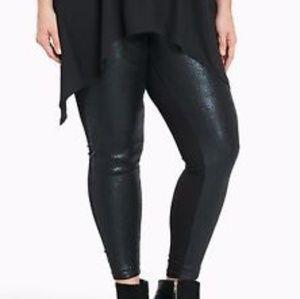 NWT Torrid black sequin leggings size 2 and 4